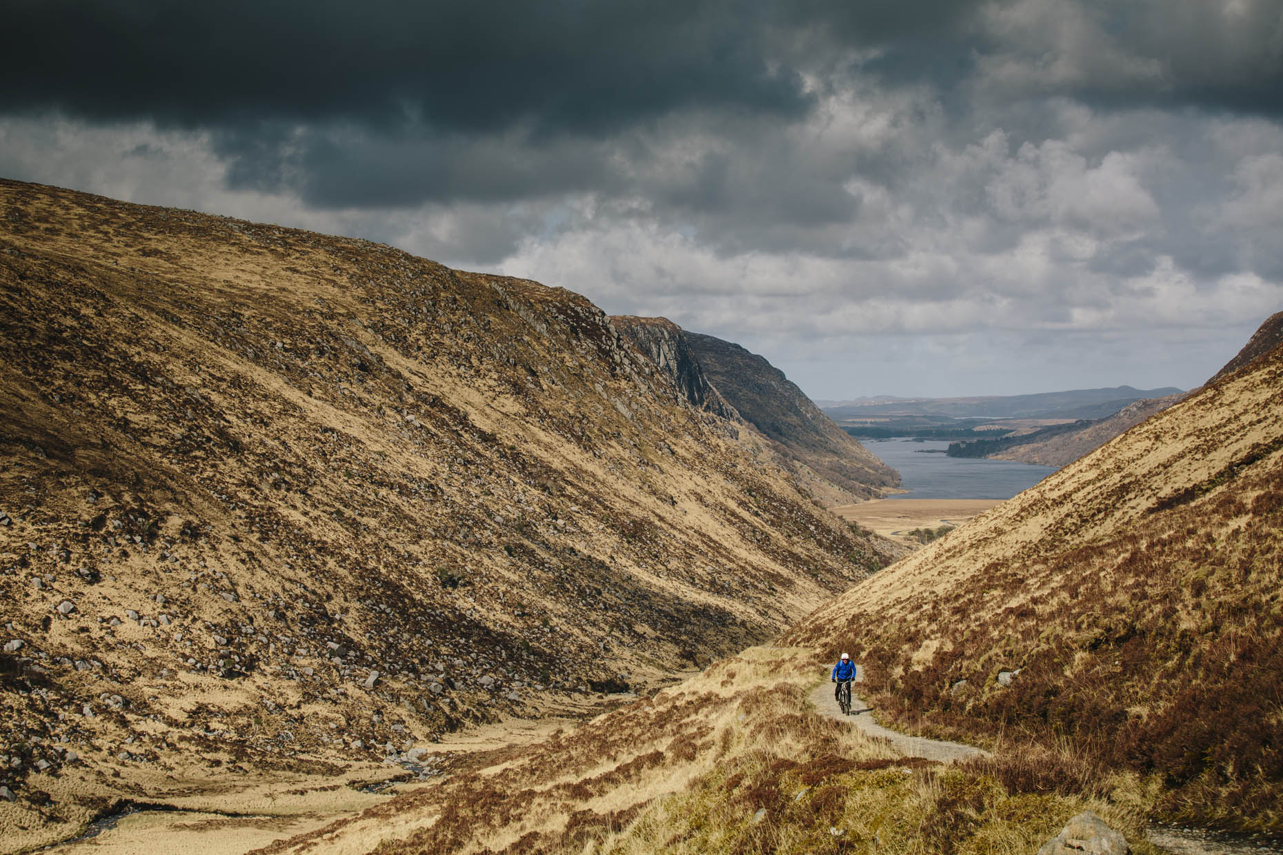 Mountain Biking, Glenveagh National Park, Donegal, Republic of Ireland