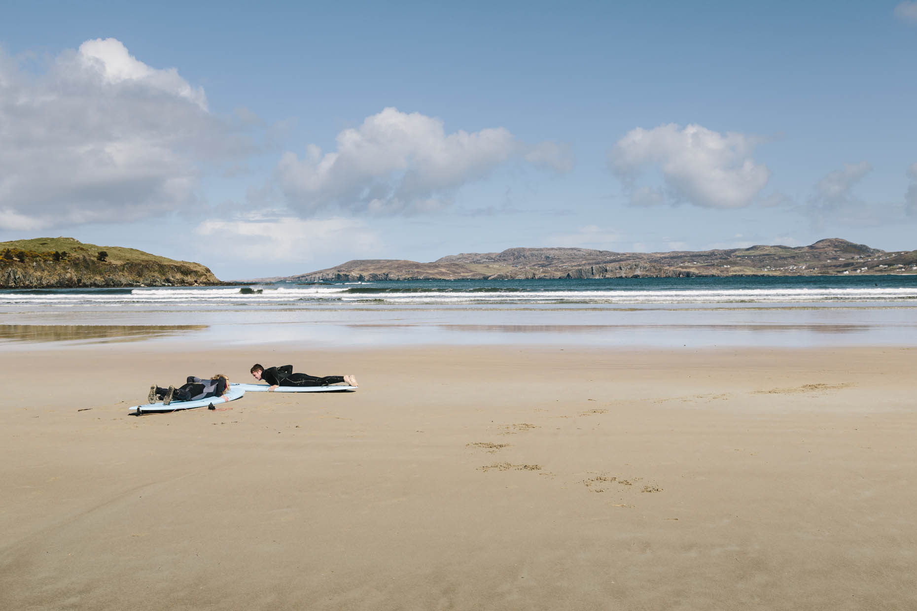 Surfing and Kayaking at Marble Hill Beach, Dunfanaghy, Donegal, Republic of Ireland